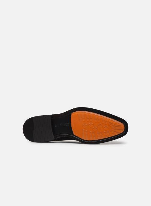 Zapatos con cordones Santoni Levante 16359 Negro vista de arriba