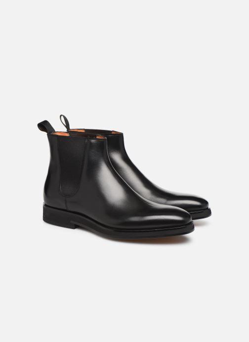 Bottines et boots Santoni Levante 16361 Noir vue 3/4