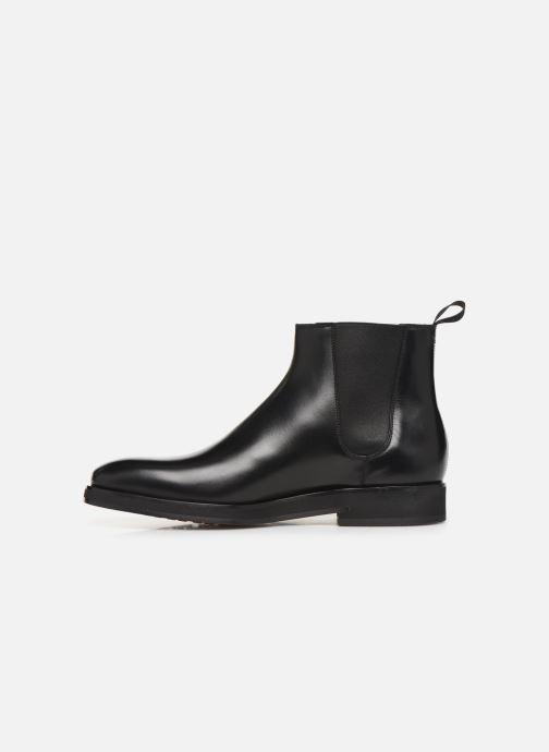 Bottines et boots Santoni Levante 16361 Noir vue face