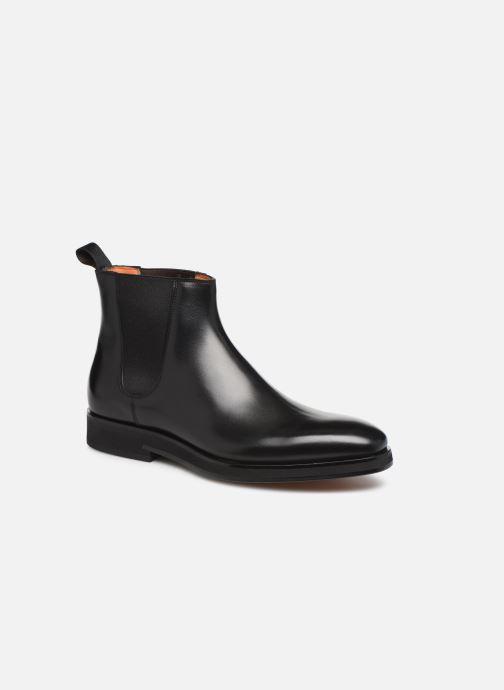 Bottines et boots Santoni Levante 16361 Noir vue détail/paire