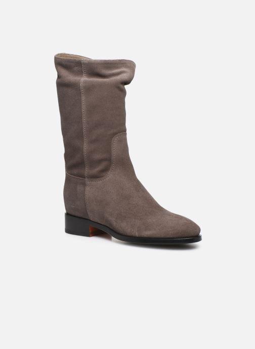 Bottines et boots Santoni Hermione 57520 Beige vue détail/paire