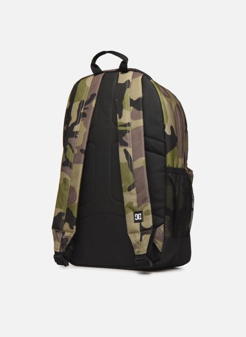 Rucksacks DC Shoes BACKSIDER PRINT Green view from the right