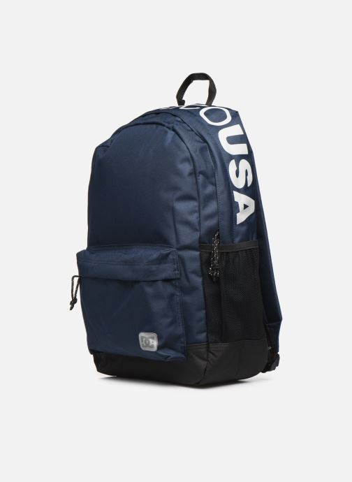 Mochilas DC Shoes BACKSIDER Azul vista del modelo