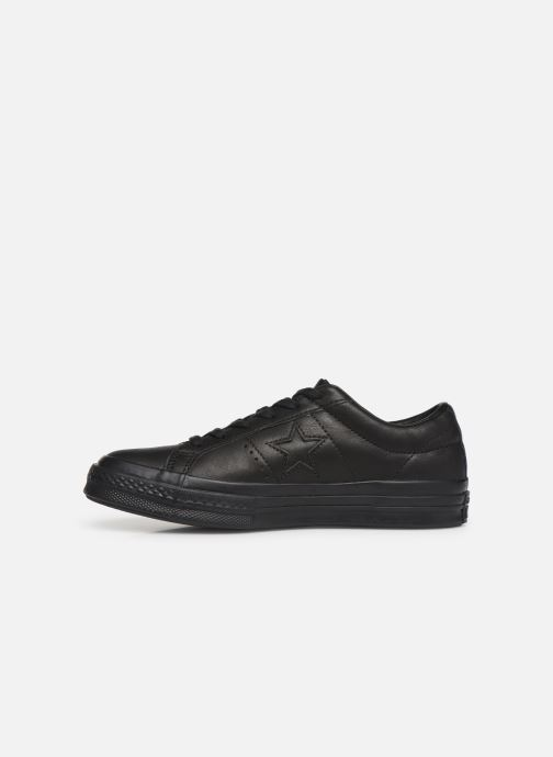 Sneakers Converse One Star Leather Ox W Zwart voorkant