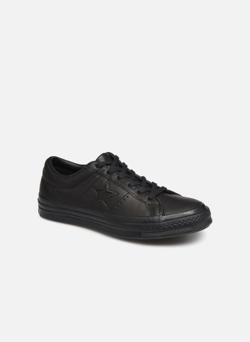 Sneakers Converse One Star Leather Ox W Zwart detail