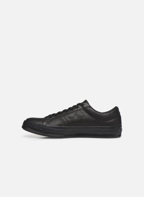 Baskets Converse One Star Leather Ox M Noir vue face