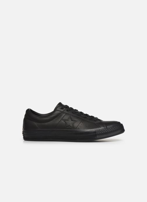 Trainers Converse One Star Leather Ox M Black back view