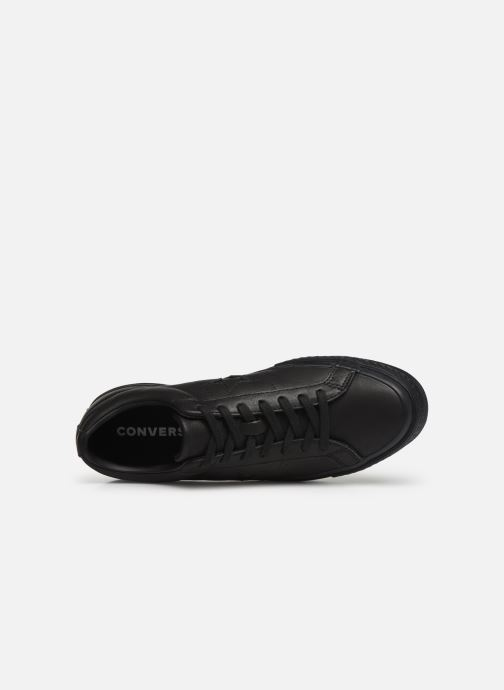 Trainers Converse One Star Leather Ox M Black view from the left