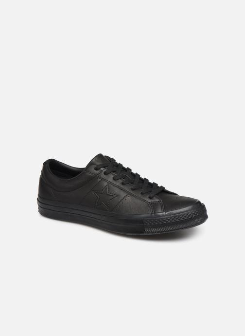 Baskets Converse One Star Leather Ox M Noir vue détail/paire