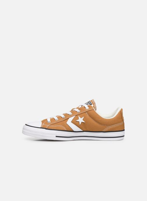 Baskets Converse Star Player Canvas Ox Jaune vue face