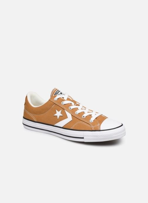 Baskets Converse Star Player Canvas Ox Jaune vue détail/paire