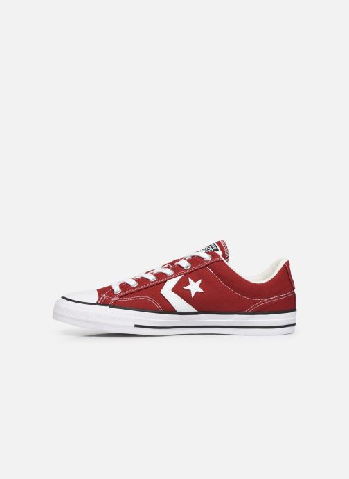 Baskets Converse Star Player Canvas Ox Rouge vue face