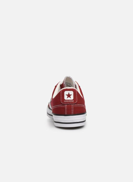 Baskets Converse Star Player Canvas Ox Rouge vue droite