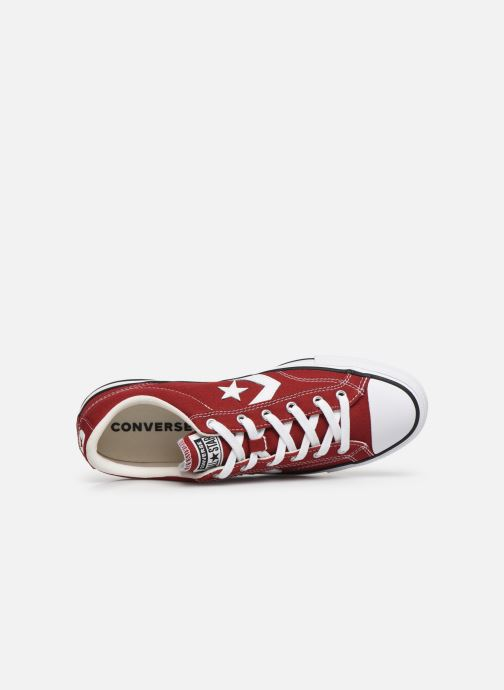 Trainers Converse Star Player Canvas Ox Red view from the left