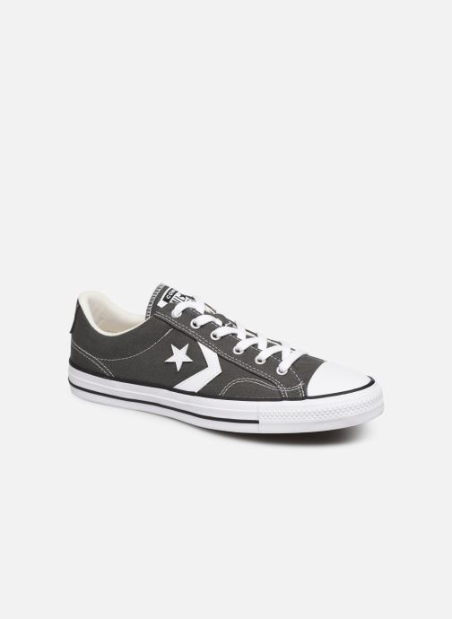 Baskets Converse Star Player Canvas Ox Gris vue détail/paire