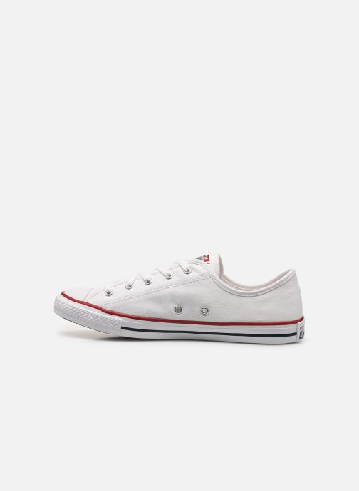 Baskets Converse Chuck Taylor All Star Dainty Canvas Ox Blanc vue face