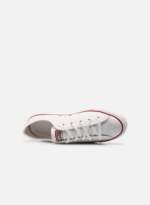 Sneakers Converse Chuck Taylor All Star Dainty Canvas Ox Hvid se fra venstre