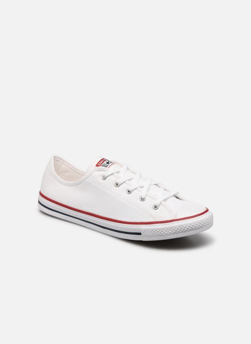 Baskets Converse Chuck Taylor All Star Dainty Canvas Ox Blanc vue détail/paire