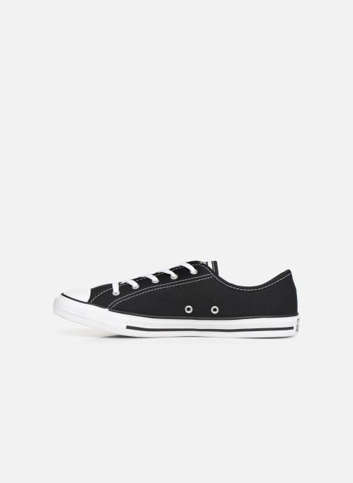 Sneakers Converse Chuck Taylor All Star Dainty Canvas Ox Zwart voorkant