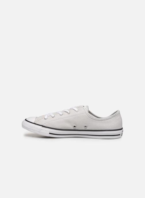 Sneaker Converse Chuck Taylor All Star Dainty Canvas Ox grau ansicht von vorne