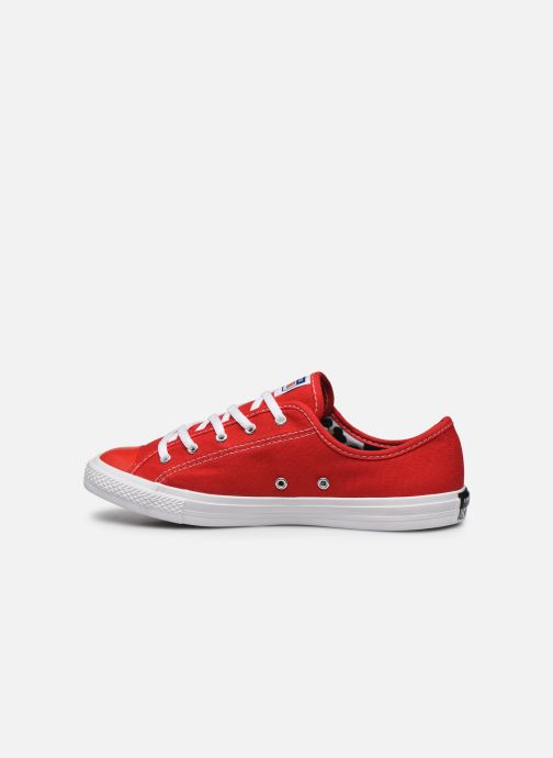 Baskets Converse Chuck Taylor All Star Dainty Canvas Ox Rouge vue face