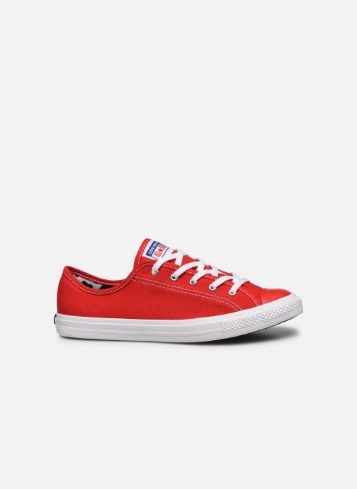 Baskets Converse Chuck Taylor All Star Dainty Canvas Ox Rouge vue derrière