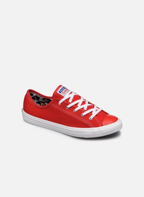 Baskets Converse Chuck Taylor All Star Dainty Canvas Ox Rouge vue détail/paire