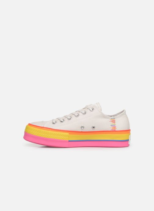 Baskets Converse Chuck Taylor All Star Lift Rainbow Ox Blanc vue face