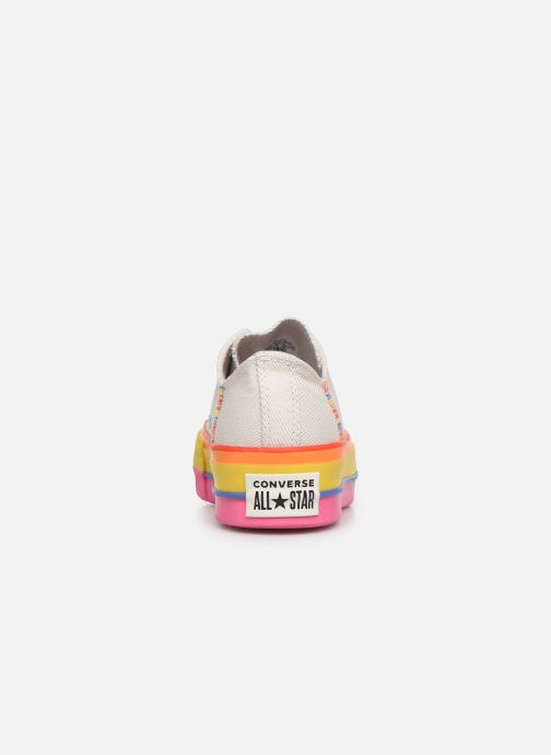Baskets Converse Chuck Taylor All Star Lift Rainbow Ox Blanc vue droite