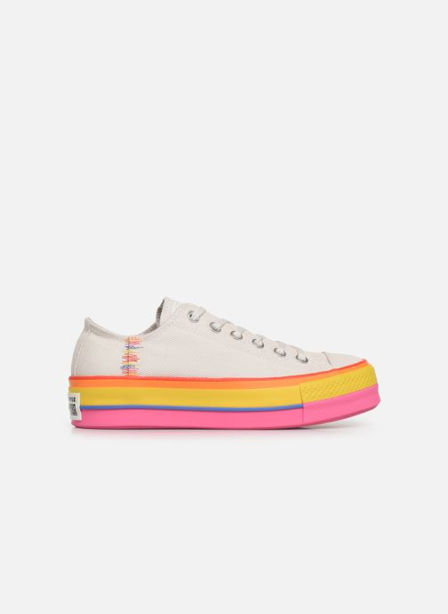 Baskets Converse Chuck Taylor All Star Lift Rainbow Ox Blanc vue derrière