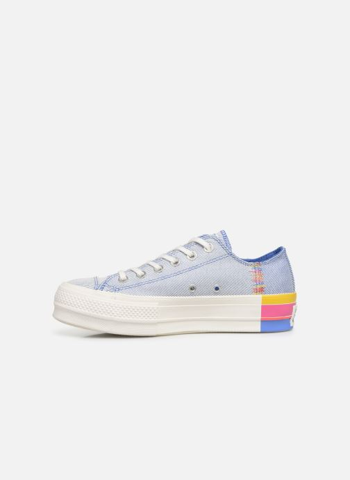 Baskets Converse Chuck Taylor All Star Lift Rainbow Ox Bleu vue face