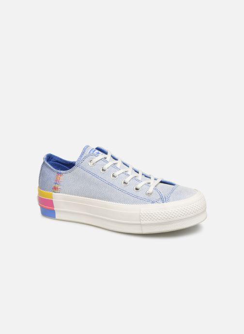 Baskets Converse Chuck Taylor All Star Lift Rainbow Ox Bleu vue détail/paire