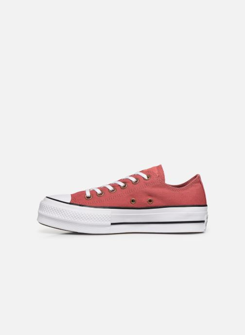 Baskets Converse Chuck Taylor All Star Lift Canvas Ox Rouge vue face