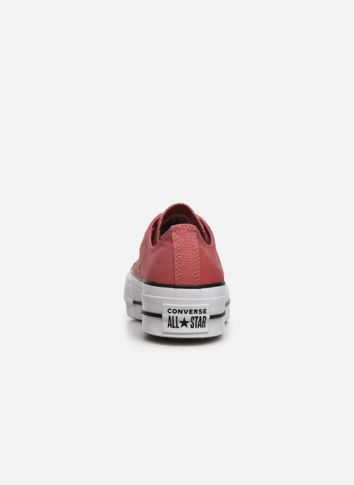Baskets Converse Chuck Taylor All Star Lift Canvas Ox Rouge vue droite