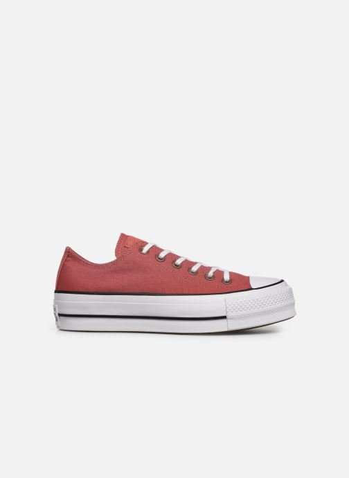 Baskets Converse Chuck Taylor All Star Lift Canvas Ox Rouge vue derrière