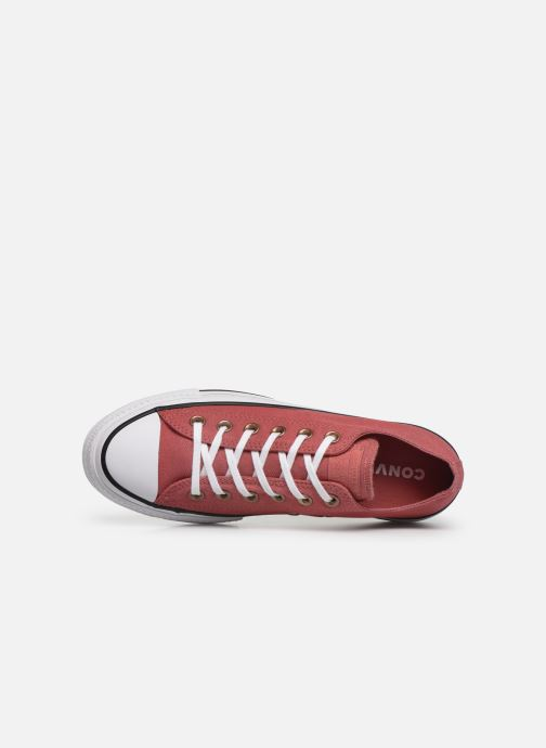Baskets Converse Chuck Taylor All Star Lift Canvas Ox Rouge vue gauche