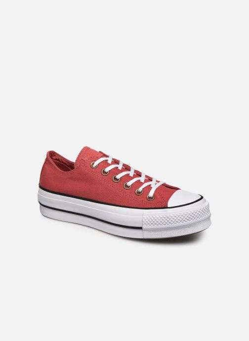 Baskets Converse Chuck Taylor All Star Lift Canvas Ox Rouge vue détail/paire