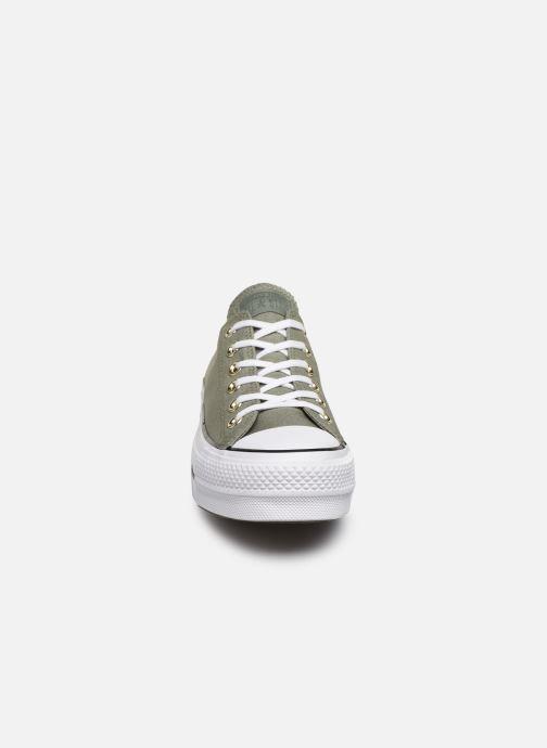 Baskets Converse Chuck Taylor All Star Lift Canvas Ox Vert vue portées chaussures