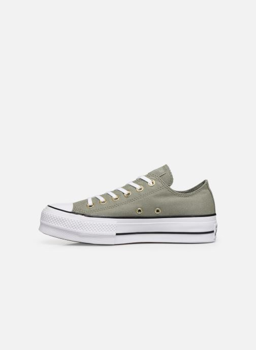 Baskets Converse Chuck Taylor All Star Lift Canvas Ox Vert vue face
