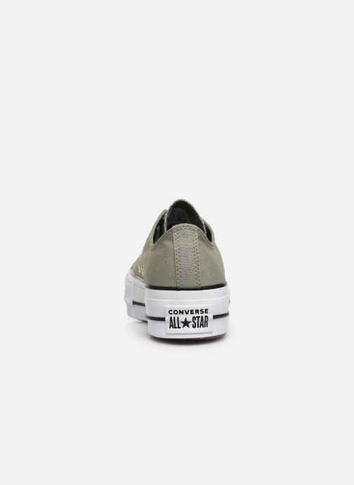 Baskets Converse Chuck Taylor All Star Lift Canvas Ox Vert vue droite