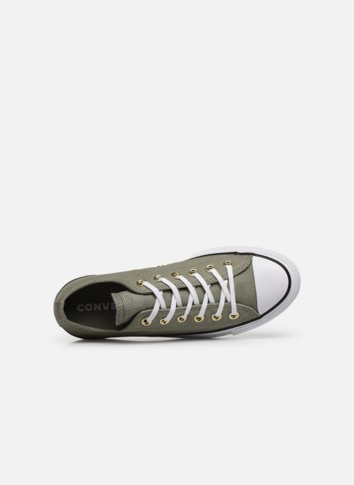 Baskets Converse Chuck Taylor All Star Lift Canvas Ox Vert vue gauche