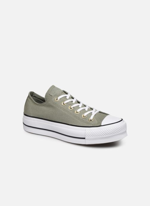 Baskets Converse Chuck Taylor All Star Lift Canvas Ox Vert vue détail/paire