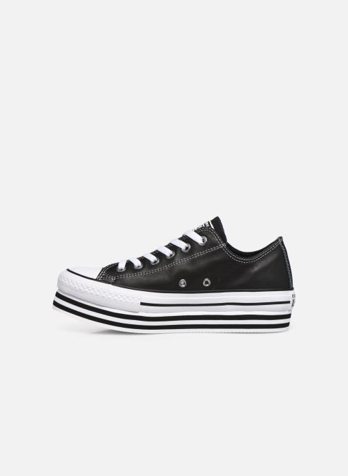 Sneakers Converse Chuck Taylor All Star Layer Bottom Ox Nero immagine frontale