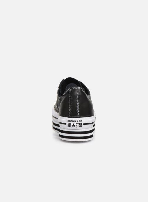 Sneakers Converse Chuck Taylor All Star Layer Bottom Ox Nero immagine destra