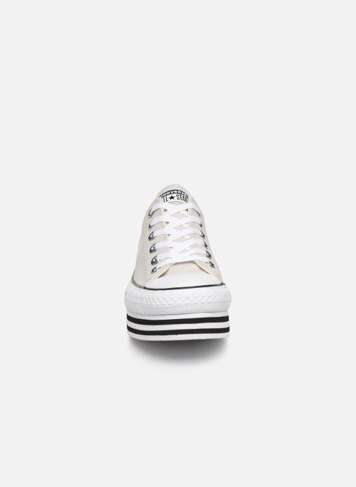 Baskets Converse Chuck Taylor All Star Layer Bottom Ox Blanc vue portées chaussures