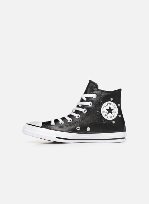 Baskets Converse Chuck Taylor All Star Leather Studs Hi Noir vue face