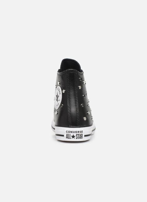 Baskets Converse Chuck Taylor All Star Leather Studs Hi Noir vue droite