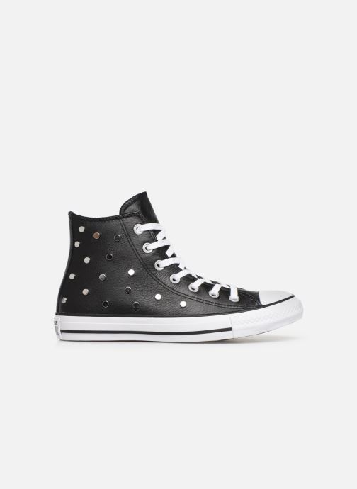 Baskets Converse Chuck Taylor All Star Leather Studs Hi Noir vue derrière