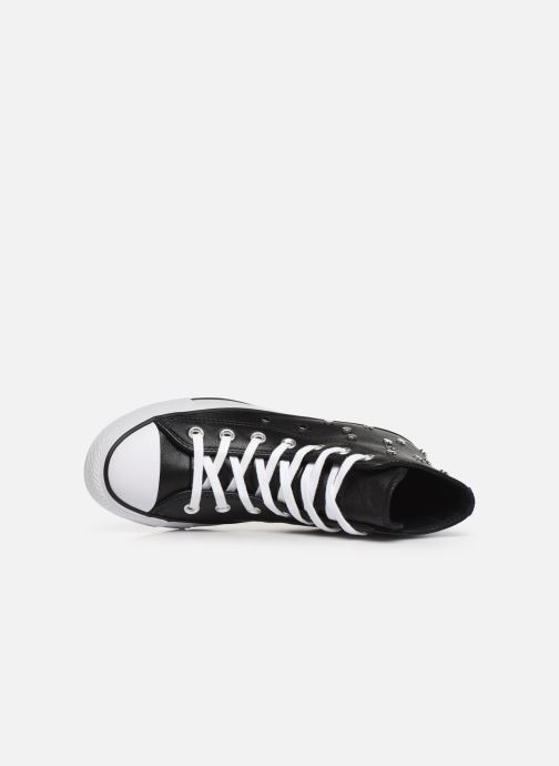 Baskets Converse Chuck Taylor All Star Leather Studs Hi Noir vue gauche
