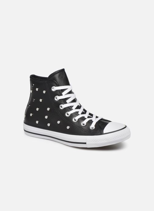 Baskets Converse Chuck Taylor All Star Leather Studs Hi Noir vue détail/paire